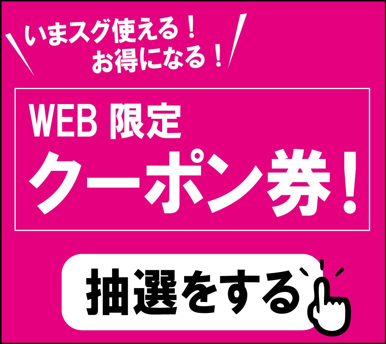 WEB限定 クーポン券