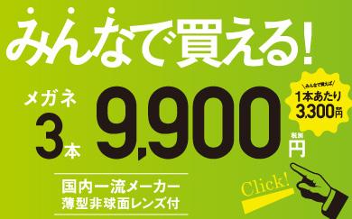 みんなで買える3本セット9900円